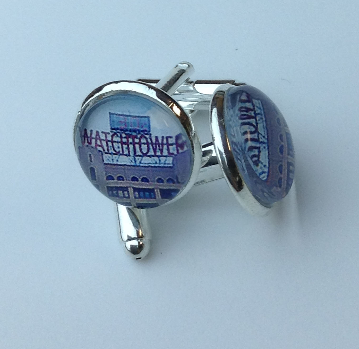 Red Watchtower Sign Cufflinks 2