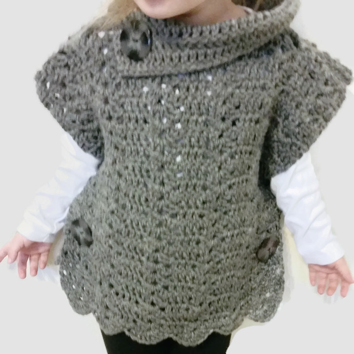 Crochet Pullover Toddler Poncho Sweater I Shop Jw
