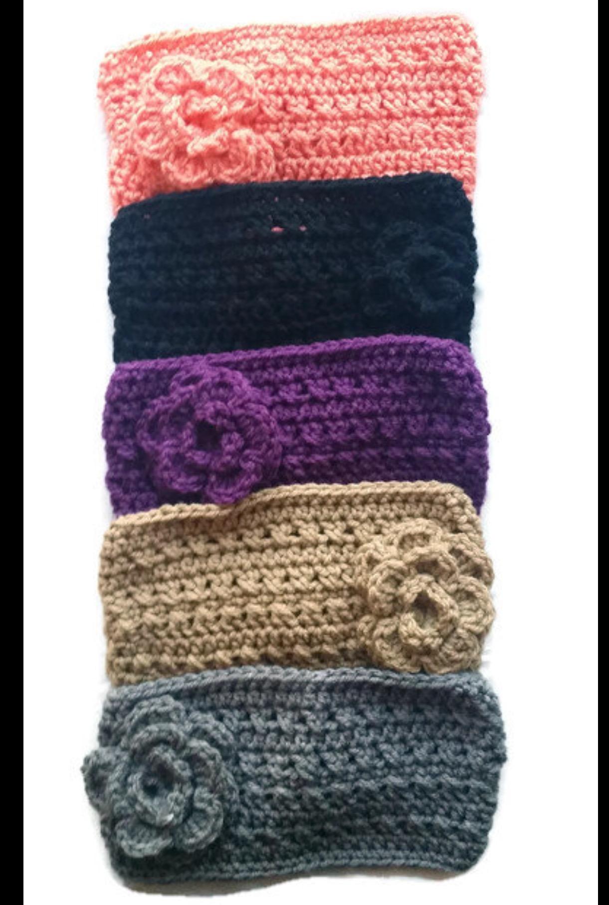 CORAL Crochet Headband Earwarmer – I Shop JW