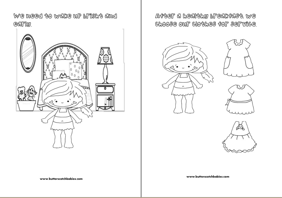 Let\'s Go Out in Service Coloring Book (girls) – I Shop JW