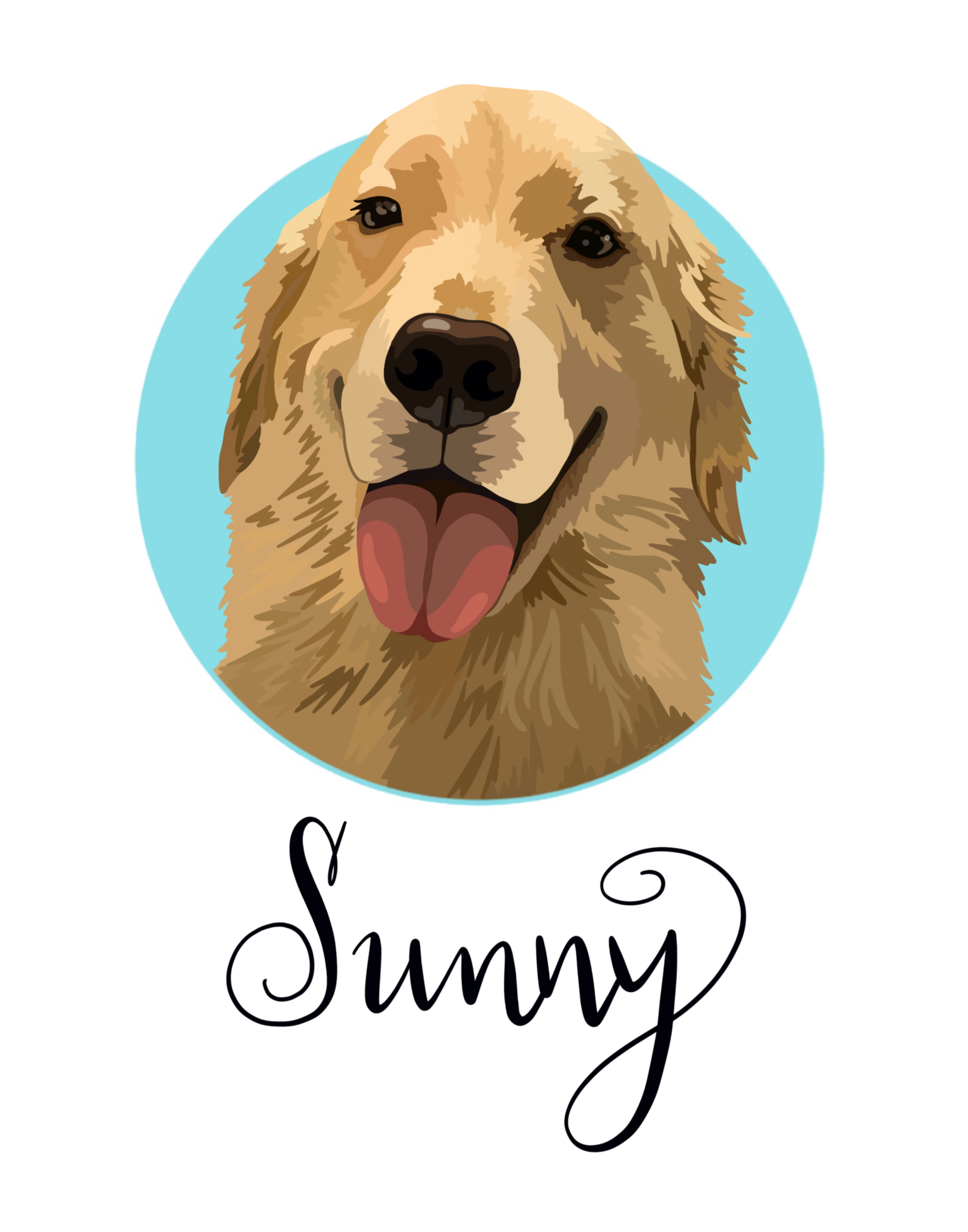 Custom Pet Portrait Graphic Art Style I Shop Jw