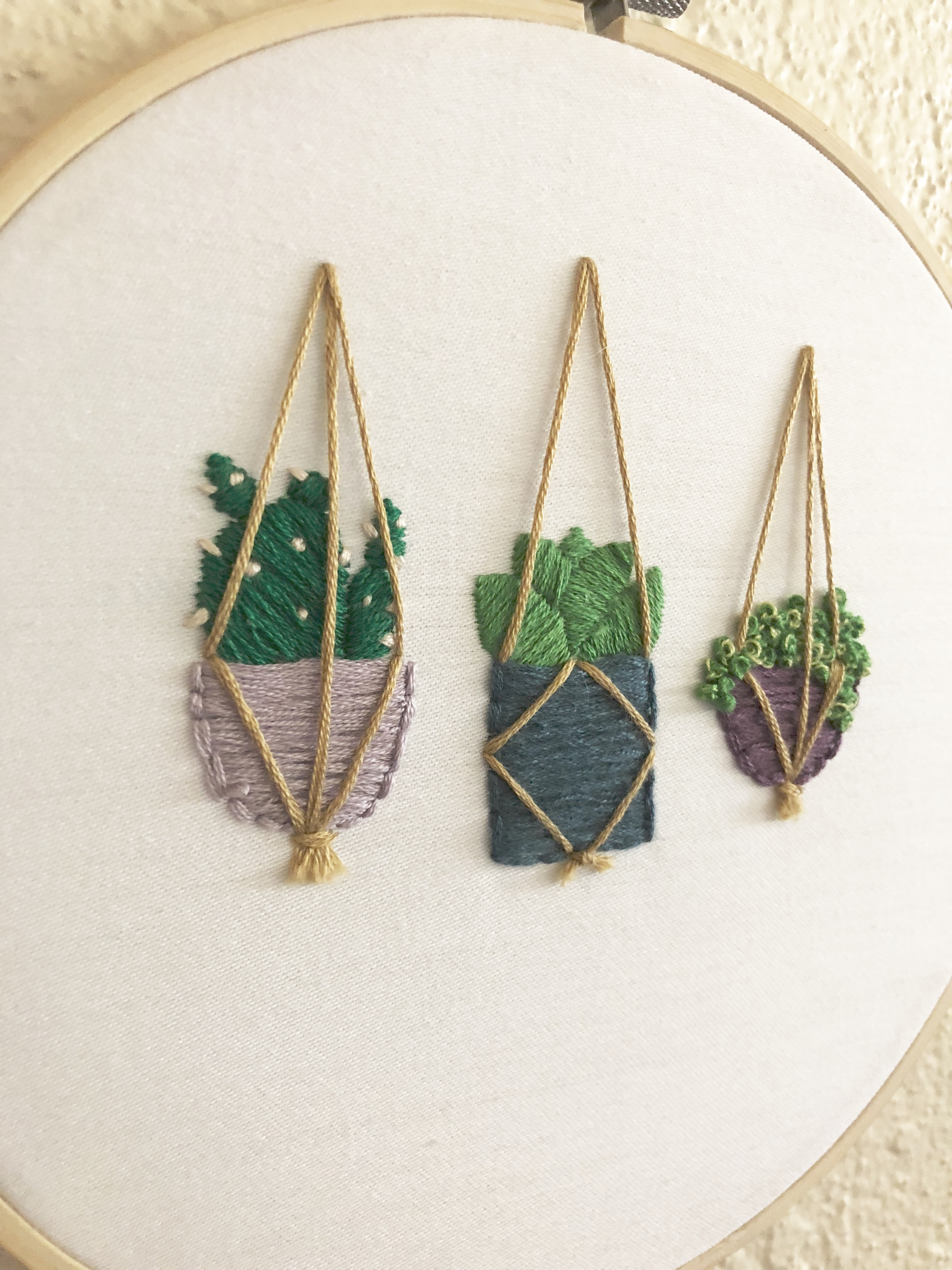 Pretty Cactus Embroidery I Shop Jw