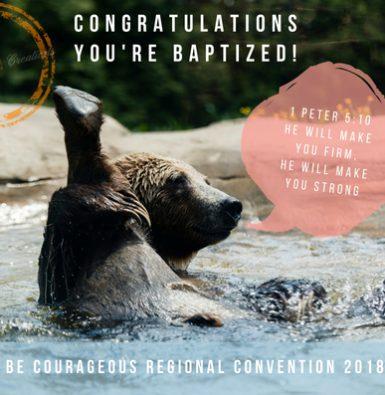 BAPTISM_1 Peter 5:10_ 2018 Regional Convention_Digital Postcard_INSTANT DOWNLOAD.