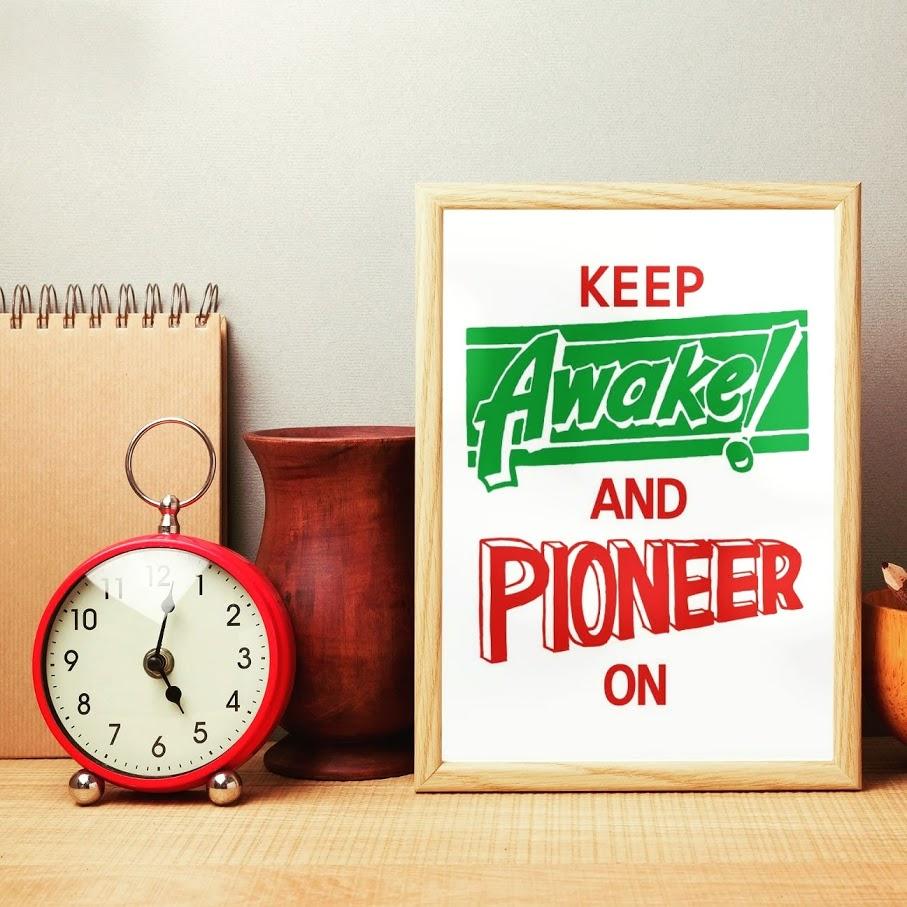 Keep Awake and Pioneer On Digital Print