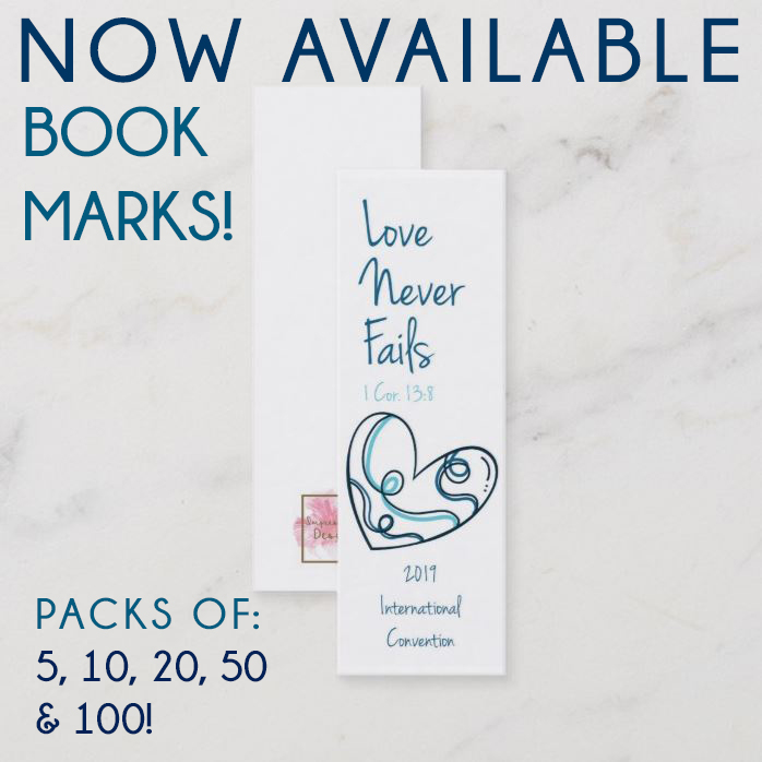 Love never fails Bookmarks -20 pack