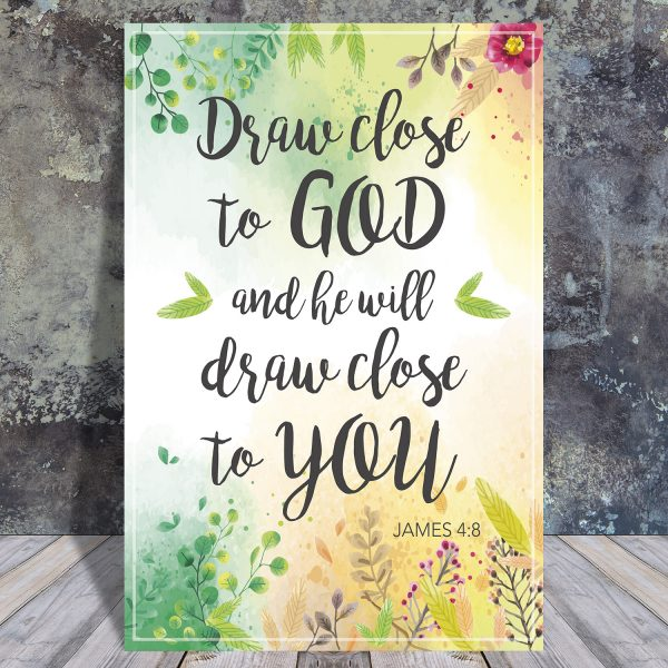 James 4:8 - Scripture quote digital printable - JW