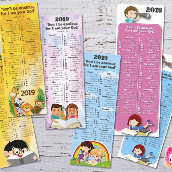 Bookmarks 2019 Bible Reading Schedule + Yeartext Children - JW - Printable file