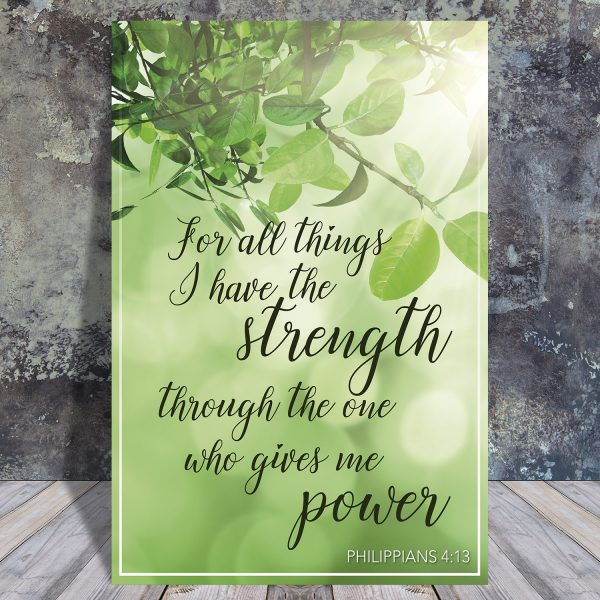 Philippians 4:13 - Scripture quote digital printable - JW
