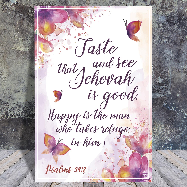 Psalm 34:8 - Scripture quote digital printable - JW