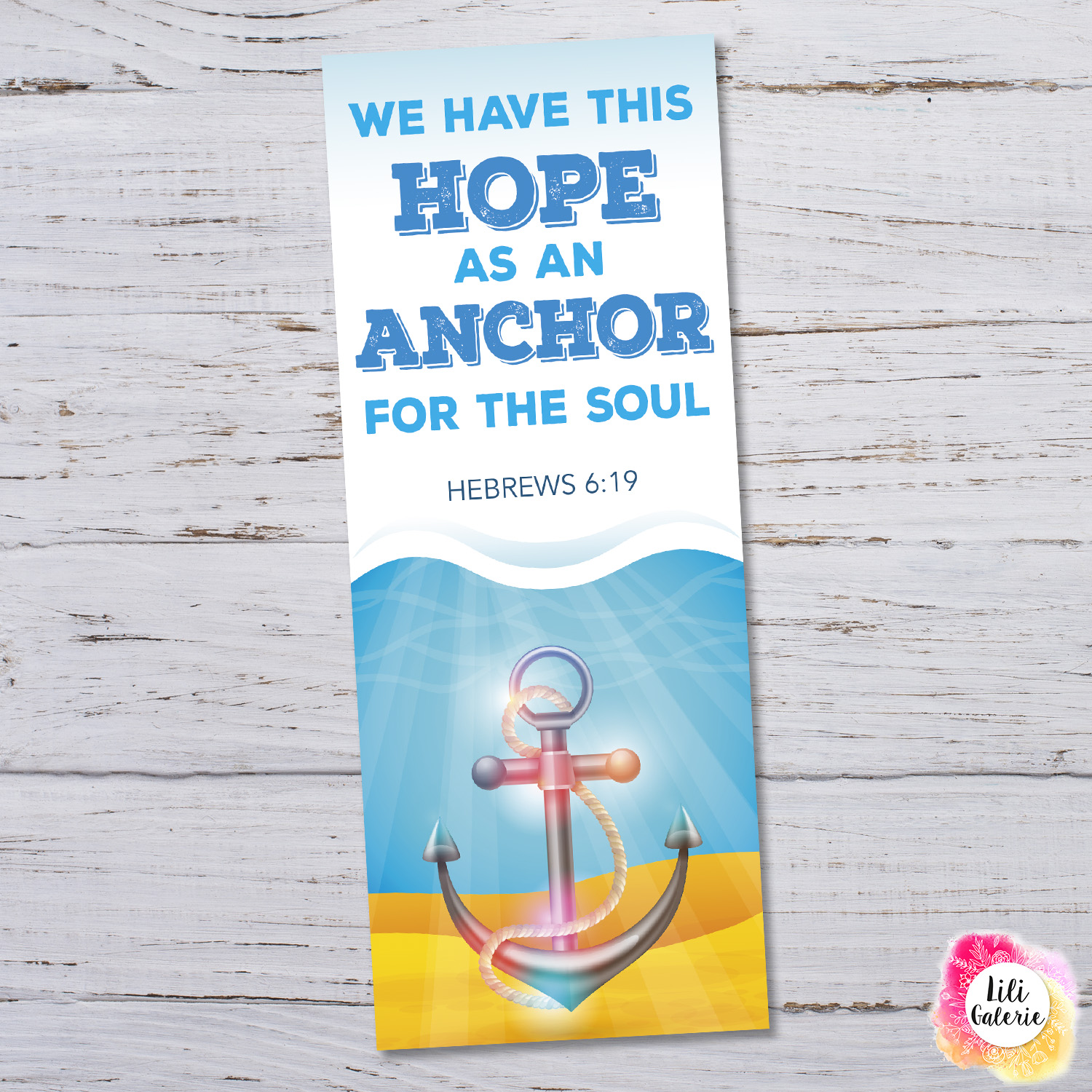 Bookmark with Bible verse