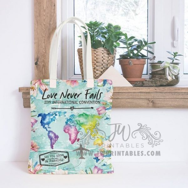 Love Never Fails JW Tote Bag JW Bags Convention Gifts JW