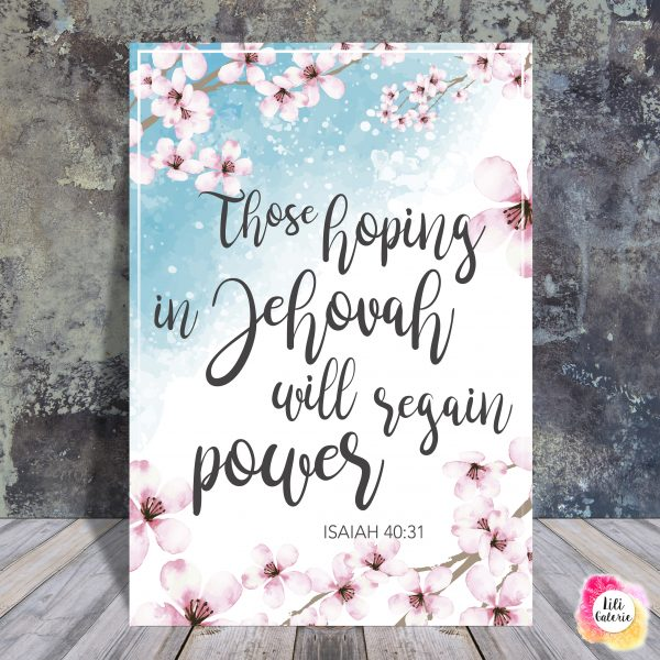Isaiah40-31 - Scripture quote digital printable - JW