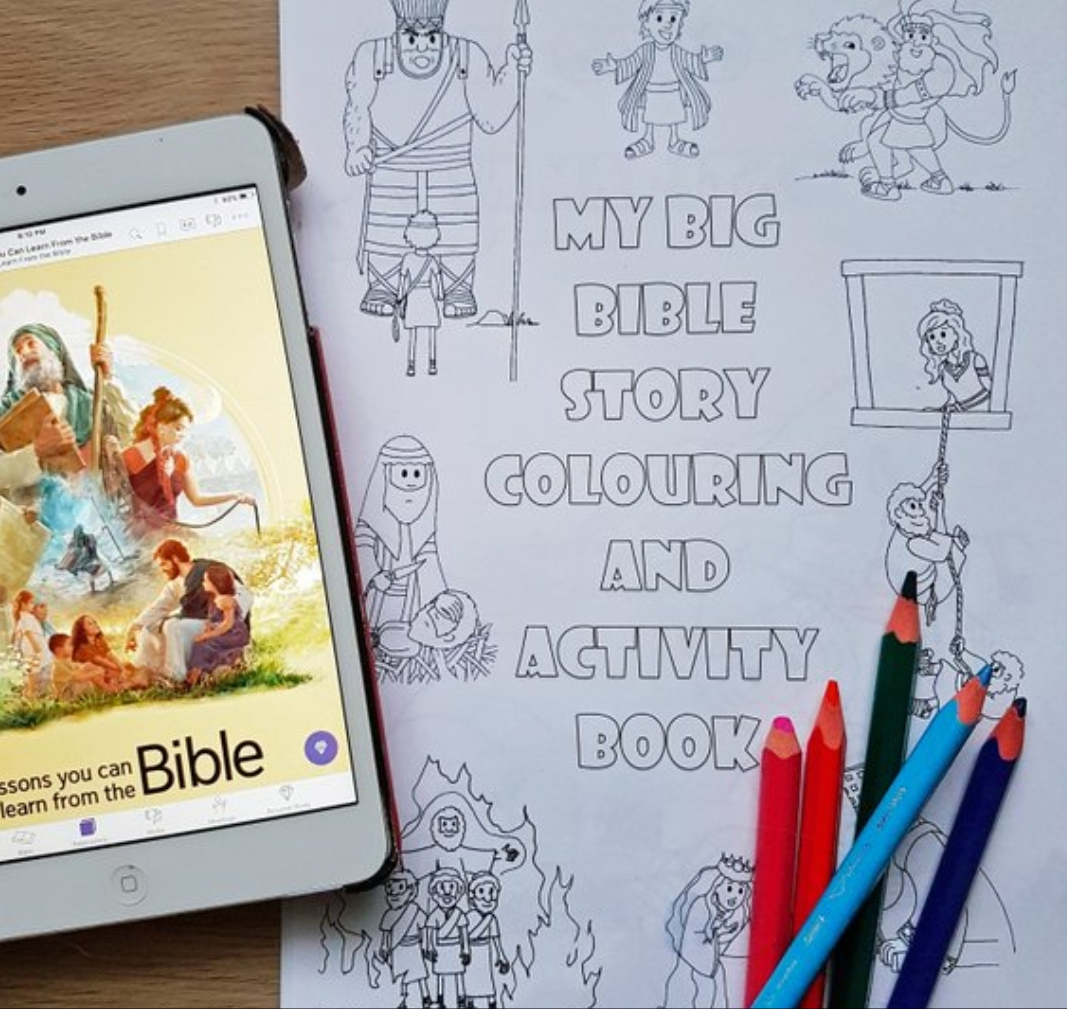 My Big Bible Story Colouring & Activity Book - Instant PDF Download