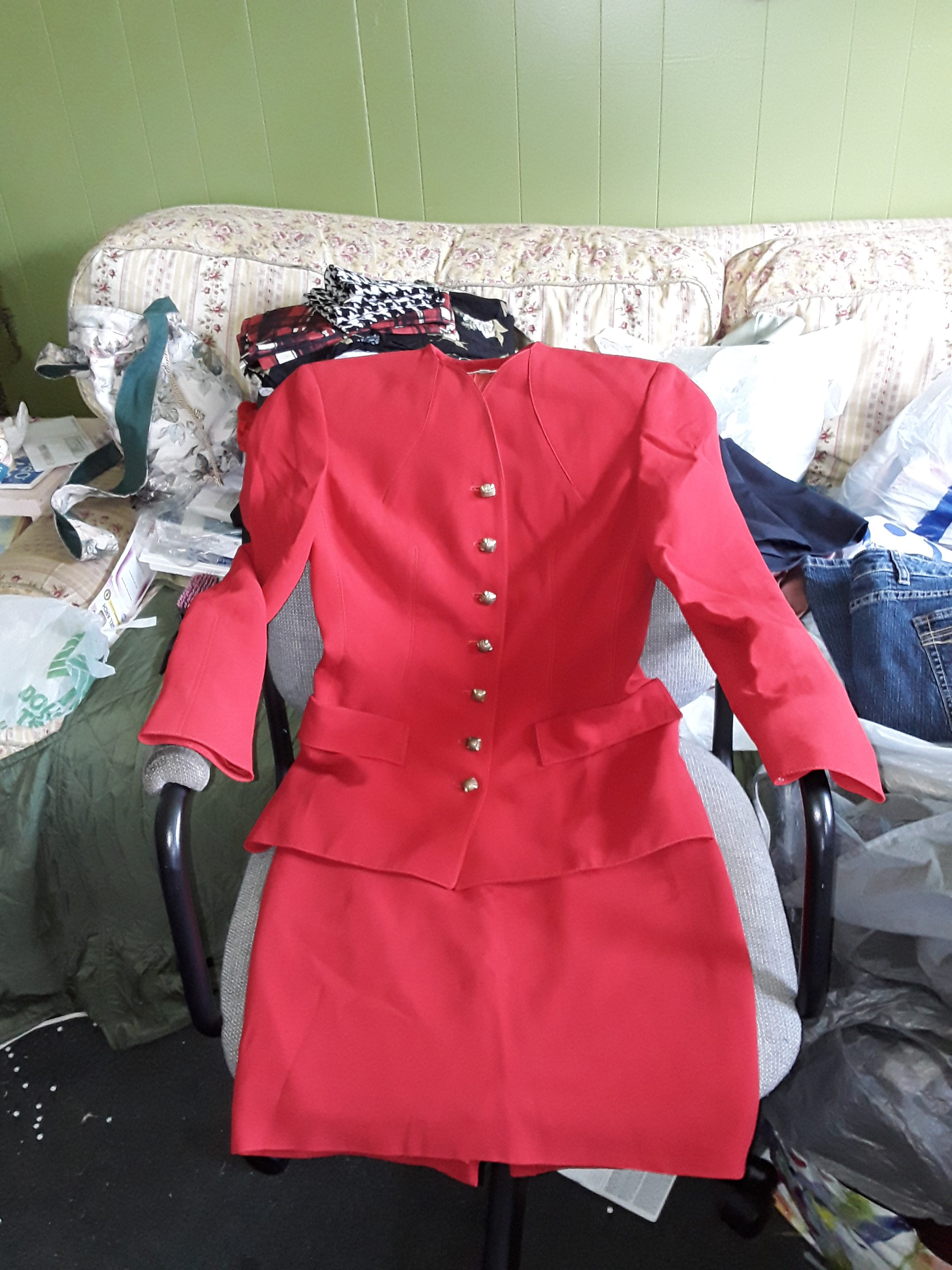 Valentino Boutique Red Suit
