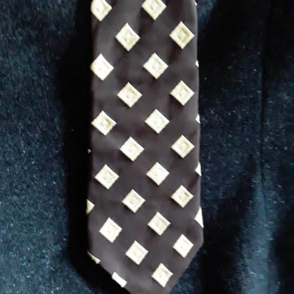 Bogart Brown/Cream Textured Tie