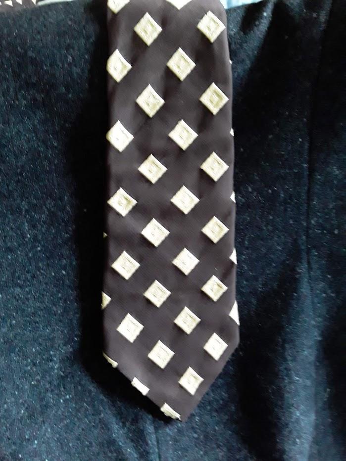 Bogart Brown/Cream Textured Tie