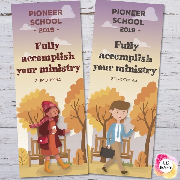 2 Bookmarks for Pioneer School