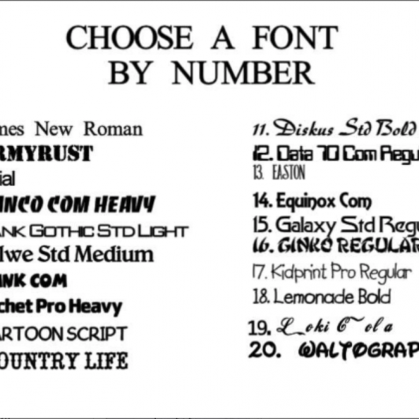 Choose Font