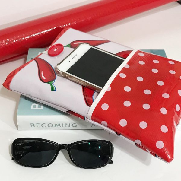 Oilcloth Pocket Book Sleeve