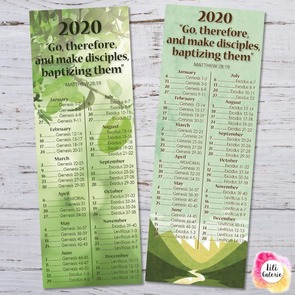 JW Bookmarks 2020 Bible Reading Schedule