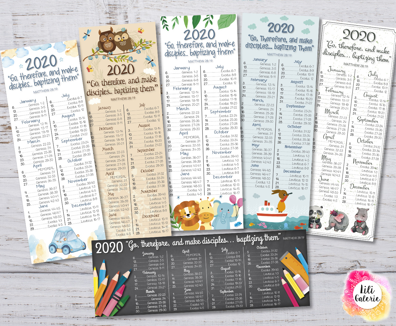 2020 Bible reading bookmarks for children