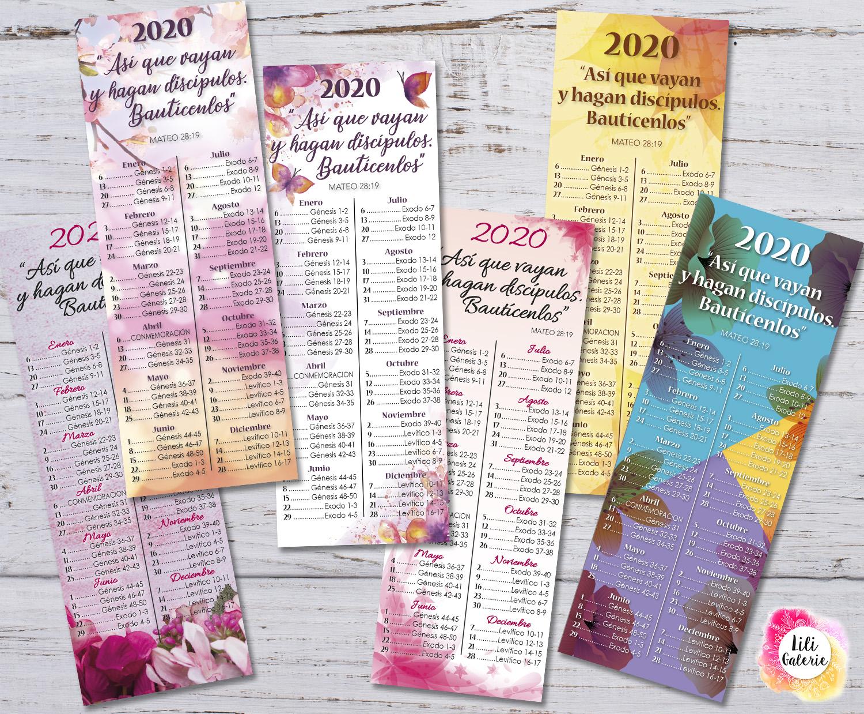 Marcadores 2020 Programa de lectura de la Biblia