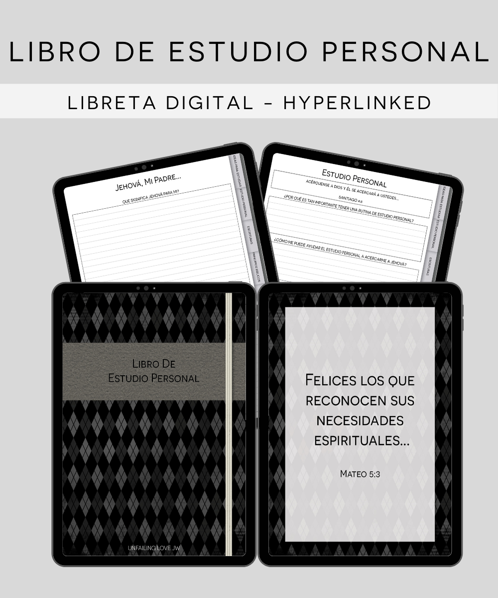 Digital Hyperlinked Jw Libro De Reunion Personal Study Notebook Workbook Pdf Instant Download Goodnotes Notability Spanish I Shop Jw