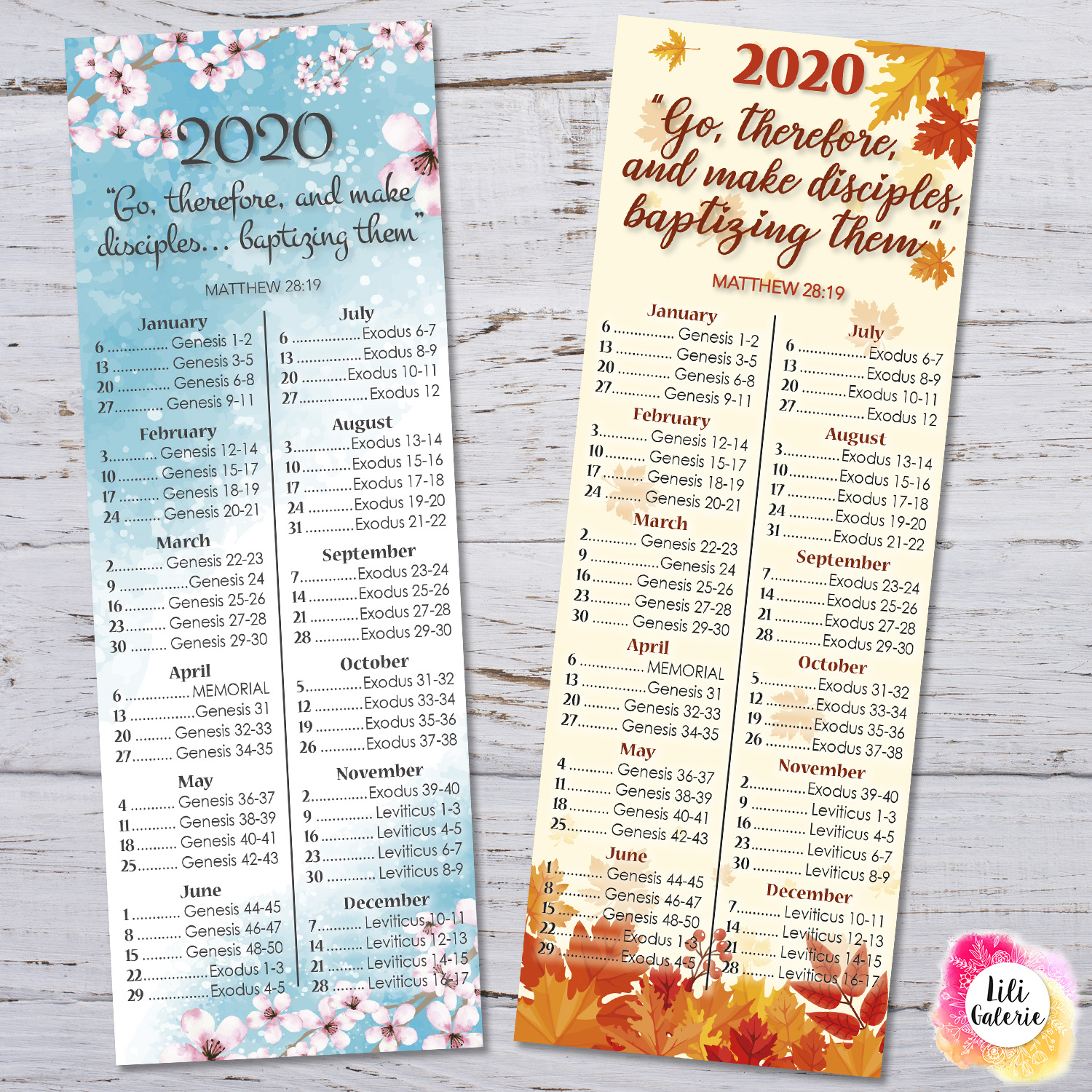 LiliGalerie-Bookmark-Bible Reading 2020