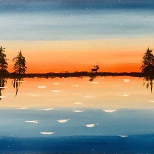 12x 24 Acrylic painting