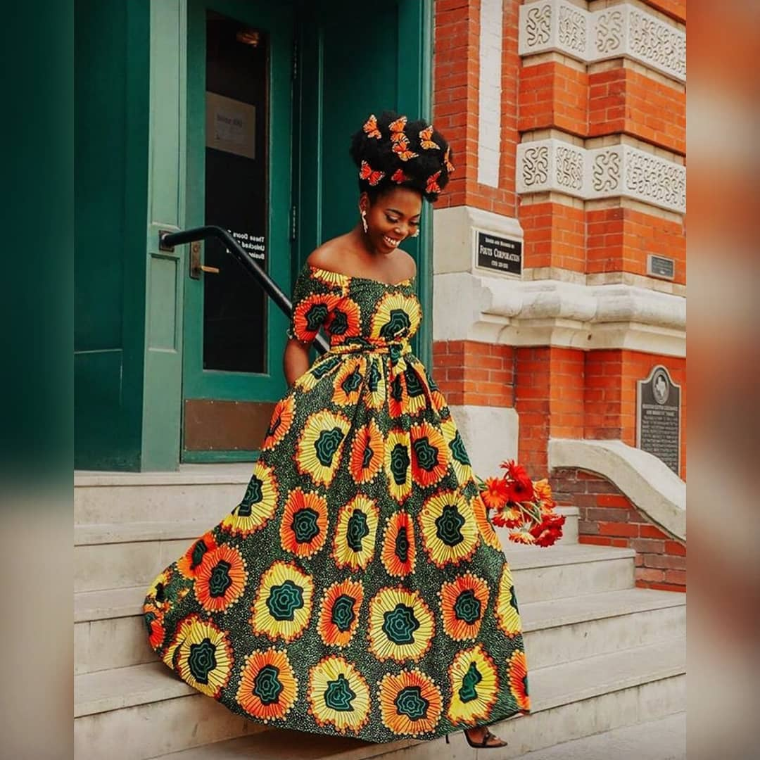 African print maxi gown
