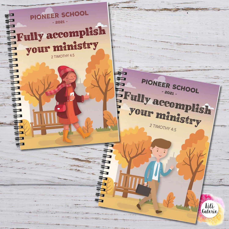 Pioneer School Notebook - Digital print