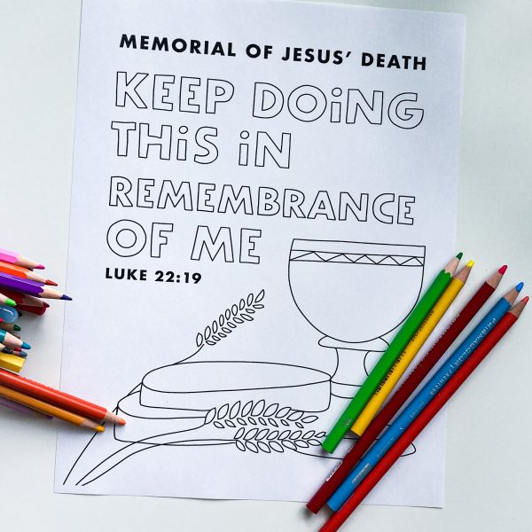 jw printable page for kids memorial