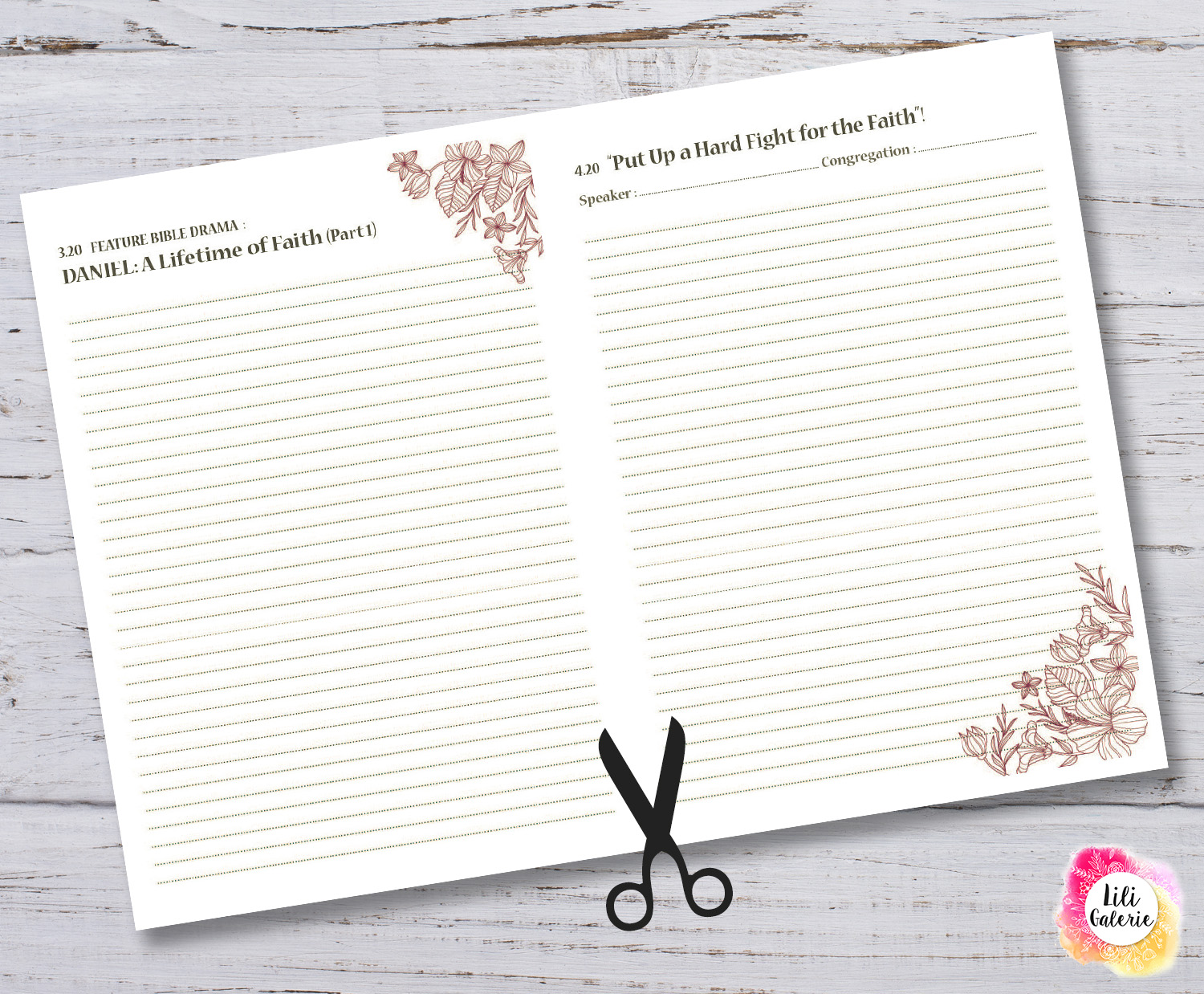 LiliGalerie-Convention Notebook 2021-powerful by faith