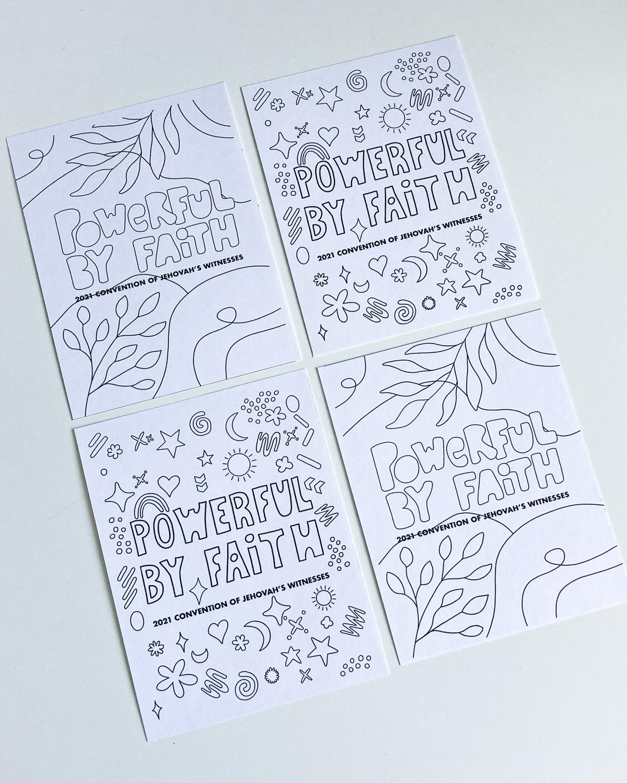 powerful by faith printable poscards