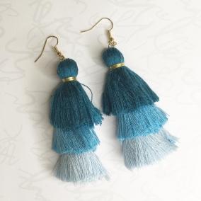 Turquoise Tassel Earrings