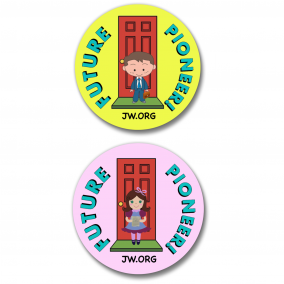 150 Future Pioneer JW Ministry International Convention Buttons Boy & Girl – 1.25""