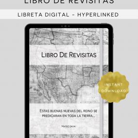 DIGITAL Hyperlinked JW Libro De Revisitas – Return Visit Book PDF Instant Download – Goodnotes, Zoomnotes, Xodo, Notability, Etc.