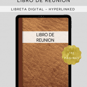 DIGITAL My Meeting Workbook JW Notebook for iPad/Tablet – Libro De Reunion – Instant Download – Goodnotes, Xodo, PDF Apps – Spanish Edition
