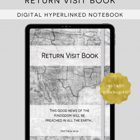 DIGITAL Hyperlinked JW Return Visit Book PDF Instant Download – Goodnotes, Zoomnotes, Xodo, Notability, Etc.