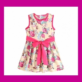 Little Girls Floral Spring / Summer Dress