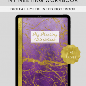 DIGITAL My Meeting Workbook JW Notebook for iPad/Tablet – Instant Download – Pdf Annotation Apps – Goodnotes, Xodo – Hyperlinked Notebook