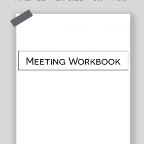 Printable JW Meeting Workbook Inserts – Half Letter Size – Instant Download PDF – OCLAM, Watchtower, Public Talks & Notes Pages – MINIMAL