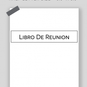 Printable Libro De Reunion – JW Meeting Workbook Inserts – Half Letter Size – Instant Download PDF – OCLAM, Watchtower, Public Talks/Notes Pages – Minimal – SPANISH EDITION