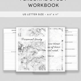PRINTABLE JW Personal Study Notebook Workbook – US Letter Size – Instant Download