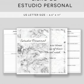 PRINTABLE JW Personal Study Notebook Workbook – US Letter Size – Instant Download – SPANISH