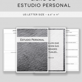 PRINTABLE JW Personal Study Notebook Workbook – US Letter Size – Instant Download – Minimal Edition – SPANISH