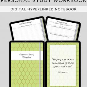 DIGITAL Hyperlinked JW Personal Study Notebook Workbook – PDF Instant Download – Goodnotes, Zoomnotes, Xodo, Notability, Etc.