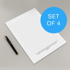 JW letter writing paper template set of 4 featuring encouraging scriptures from the bible