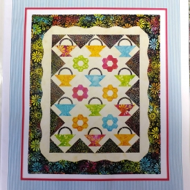 """Friendship Baskets"" 20″x25″ Wallhanging Quilt Kit by Bloom Creek."