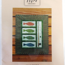"""Gone Fishin'"" 15.5″x19.5″ Wallhanging Quilt Kit by MH Designs – Paper Pieced Foundation – Complete Kit!"